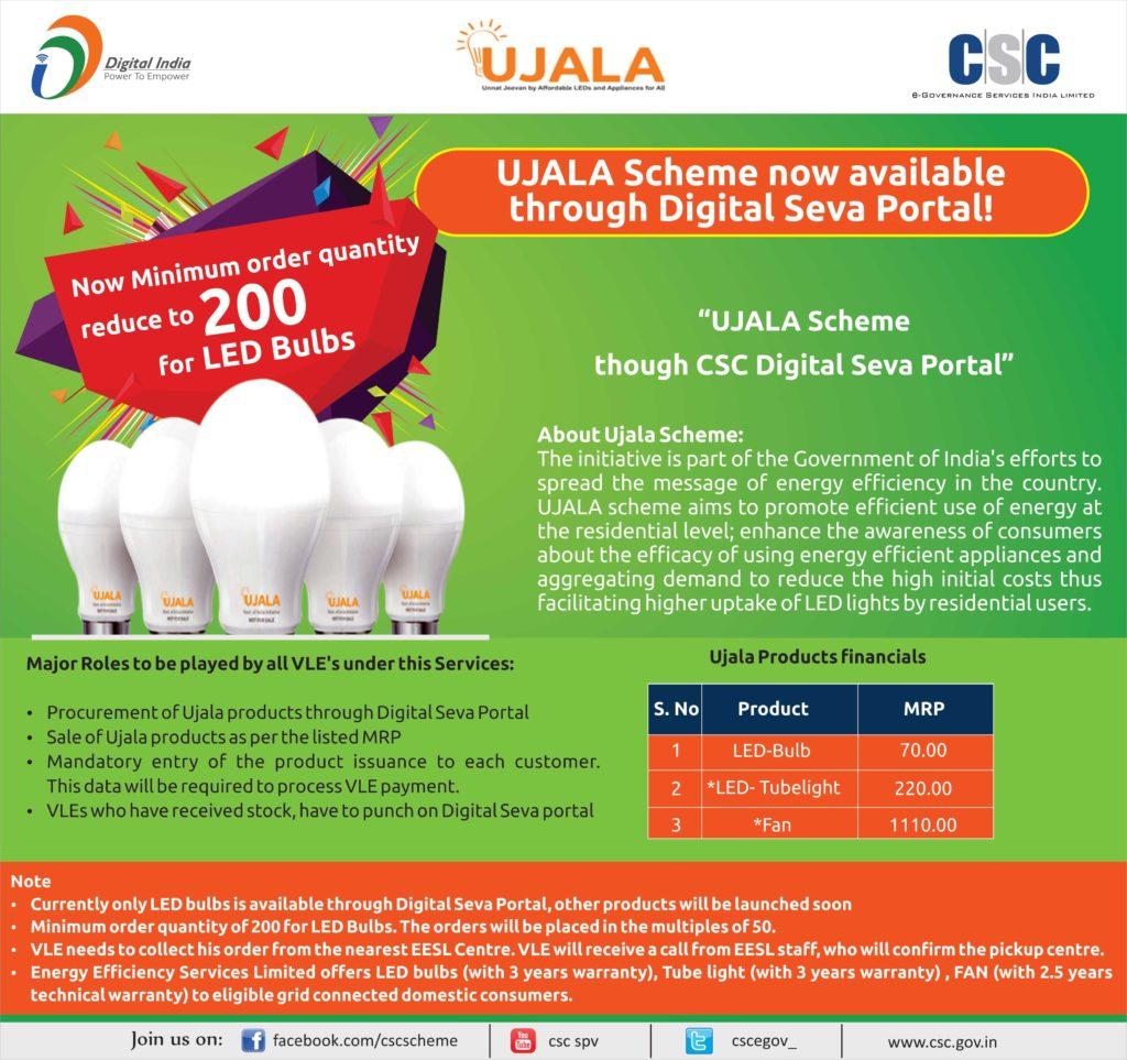 Led Bulb Ujala Yojana: Instructions To CSC VLE'S Under UJALA Scheme
